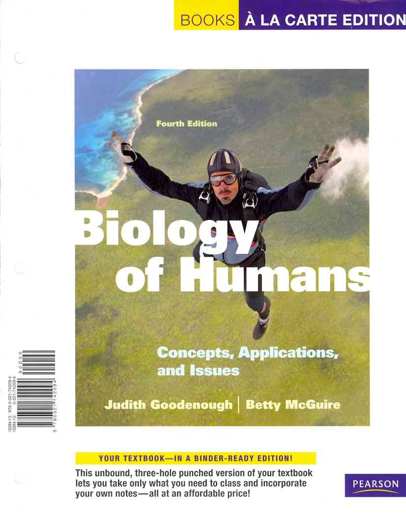 Benjamin-Cummings Publishing Company Biology of Humans: Concepts, Applications, and Issues, Books a la Carte Plus Masteringbiology -- Access Card Package (4th Editio at Sears.com